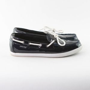 COLE HAAN Blue Nantucket Camp Moccasin Shoes 7.5